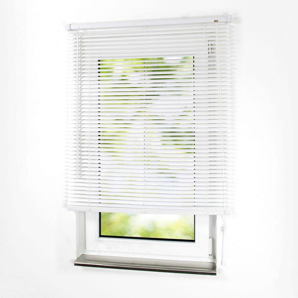 rc sonnenschutz pvc kunststoff jalousie jalousette plastik lamellen in der farbe wei. Black Bedroom Furniture Sets. Home Design Ideas